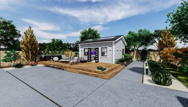 Detached Standard ADU 400 square feet for ADU Catalog by Multitaskr in San Diego County