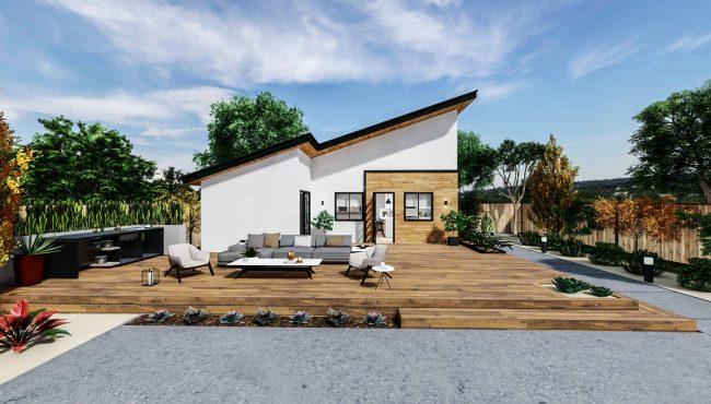 Detached Medium ADU 500 square feet for ADU Catalog by Multitaskr in San Diego County