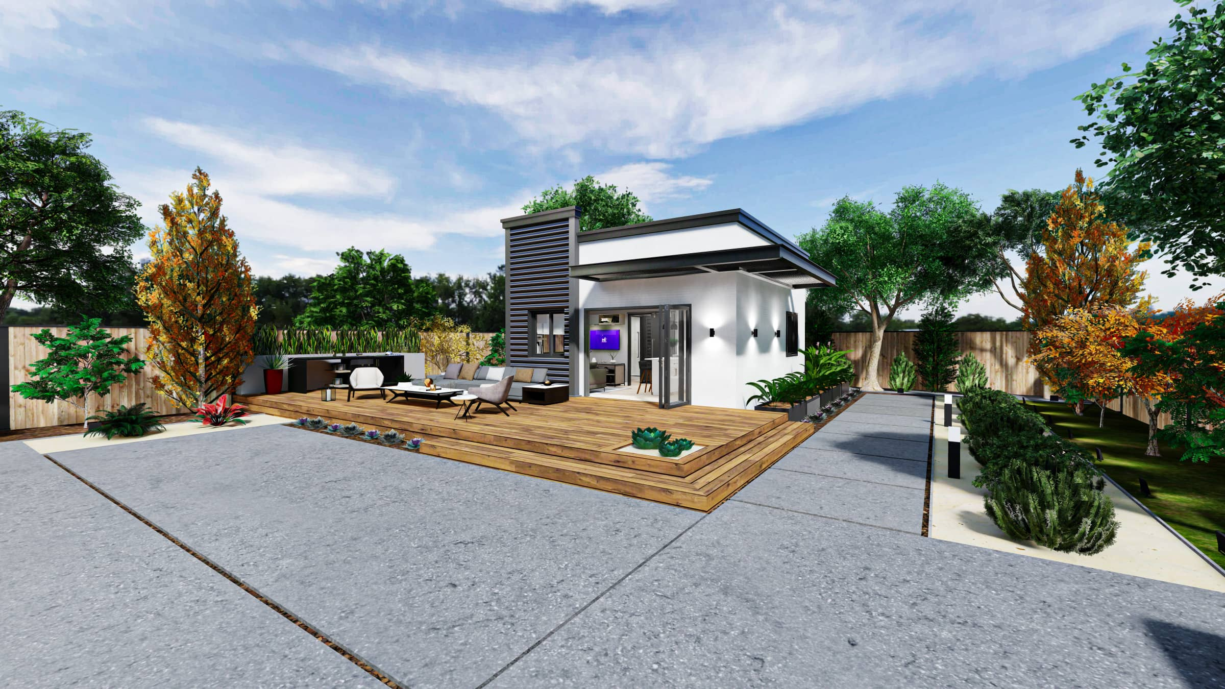 Detached Premium ADU 400 square feet for ADU Catalog by Multitaskr in San Diego County