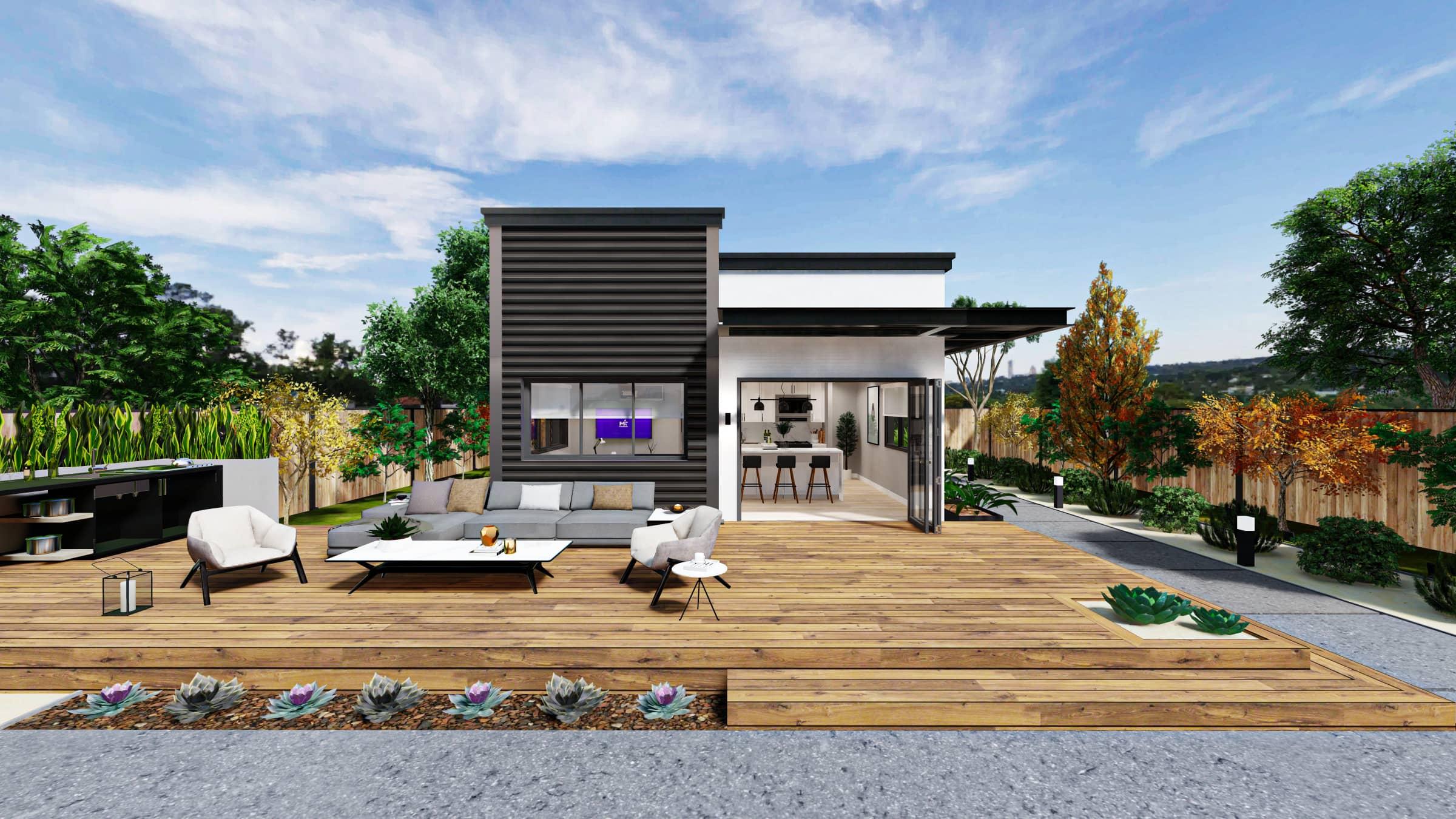 Detached Premium ADU 650 square feet for ADU Catalog by Multitaskr in San Diego County