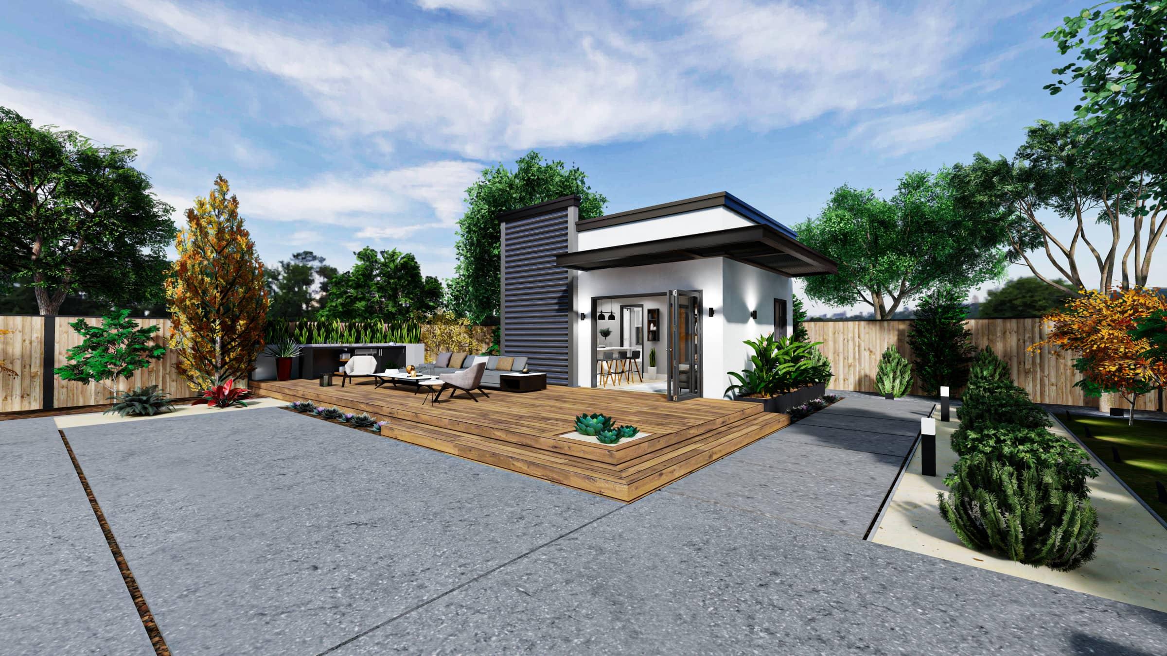 Studio Premium ADU 300 square feet for ADU Catalog by Multitaskr in San Diego County