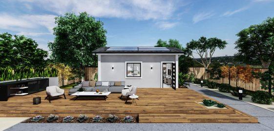 Studio Standard ADU 250 square feet for ADU Catalog by Multitaskr in San Diego County