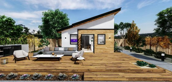 Detached Medium ADU 400 square feet for ADU Catalog by Multitaskr in San Diego County