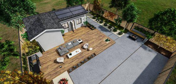 Detached Standard ADU 500 square feet for ADU Catalog by Multitaskr in San Diego County