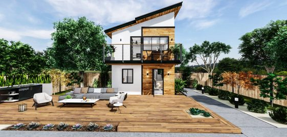Detached Medium ADU 2 Levels 400 square feet for ADU Catalog by Multitaskr in San Diego County