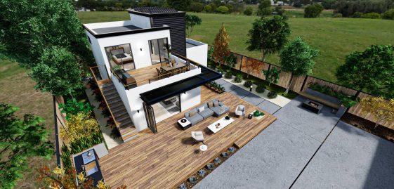 Detached Premium ADU 2 Levels 1300 square feet for ADU Catalog by Multitaskr in San Diego County