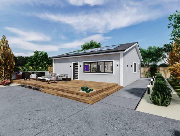 Detached Standard ADU 1200 square feet for ADU Catalog by Multitaskr in San Diego County