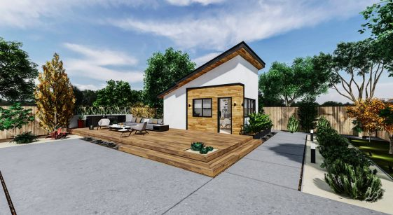 Office Medium ADU 250 square feet for ADU Catalog by Multitaskr in San Diego County