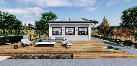 Detached Standard ADU 750 square feet for ADU Catalog by Multitaskr in San Diego County