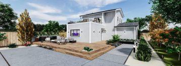 Detached Standard ADU 2 Levels 1300 square feet for ADU Catalog by Multitaskr in San Diego County